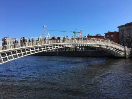 Ha'penny Bridge over Liffey