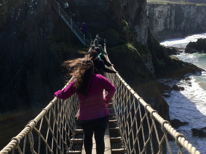 On the Carrick-a-Rede rope bridge