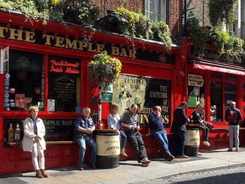 The Temple Bar, self-guided Dublin walking tour