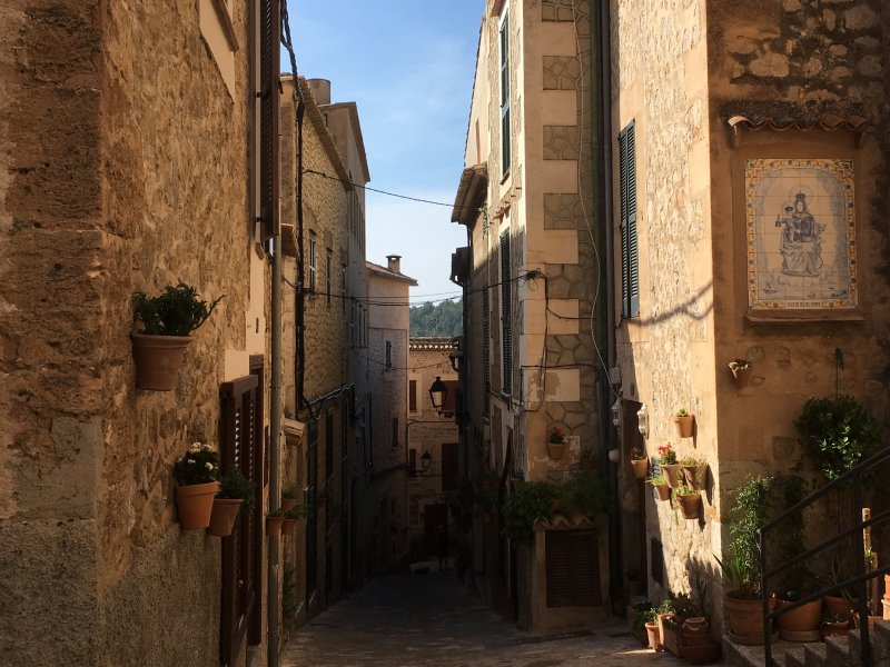 Typical lane of Estellencs, Mallorca