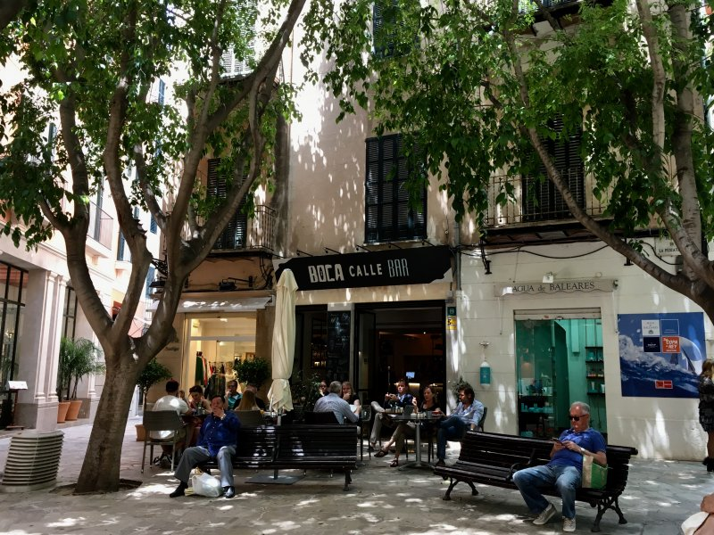 One of the Placa de Cort cafes, Palma de Mallorca old town