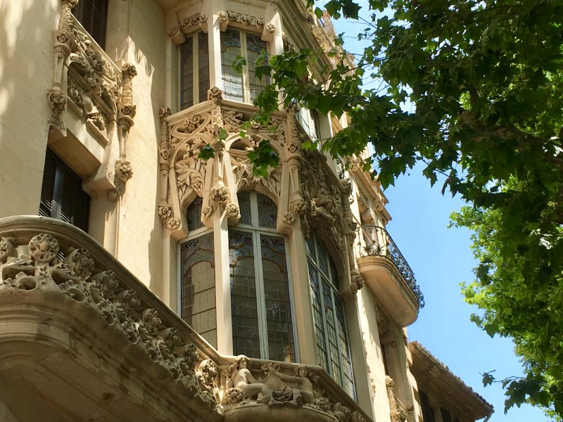 Details of the former Grand Hotel of Palma de Mallorca