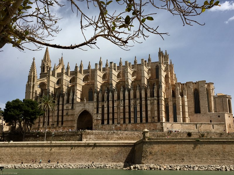 Cathedral La Seu in Palma de Mallorca old town