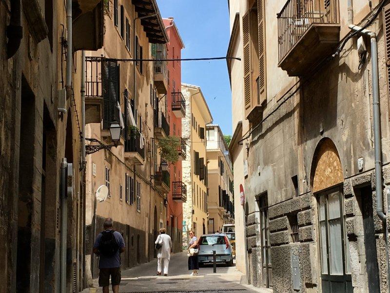 Palma de Mallorca old town street
