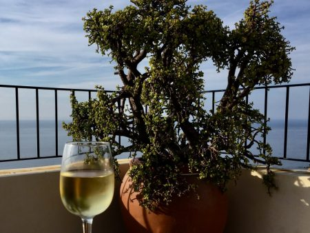 White wine with view, Banyalbufar