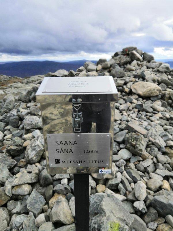 Guest book of Saana fell