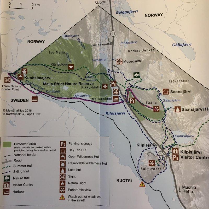 Kilpisjärvi hiking map
