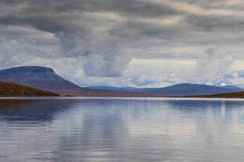 Lake Kilpisjärvi backed by Saana fell