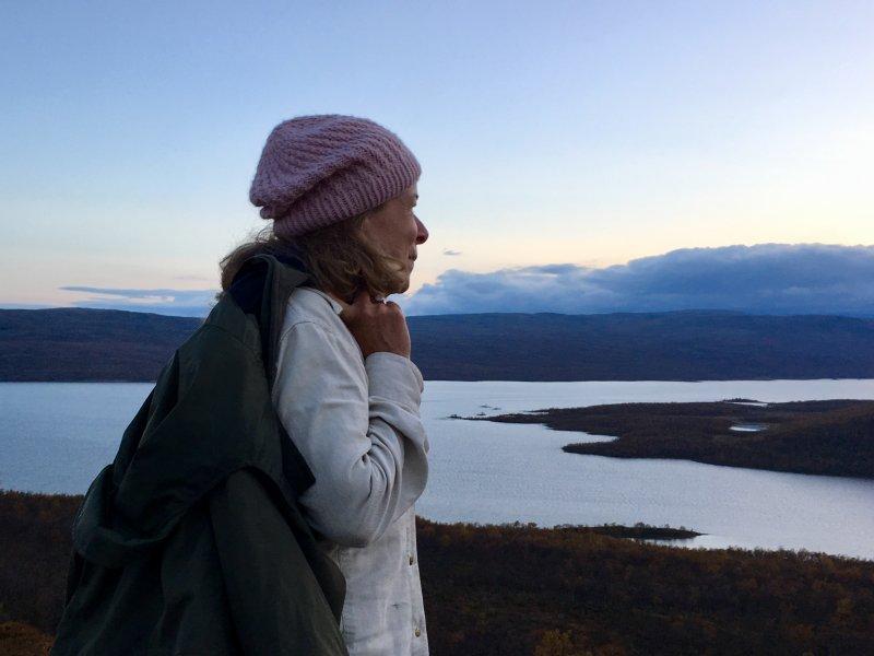 Leena Valkeapää in Lapland nature