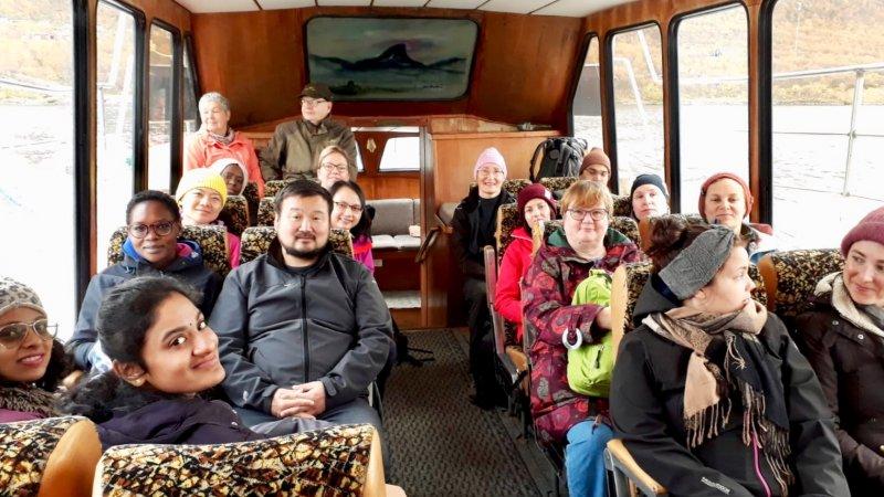 On the ship Malla to Kilpisjärvi from the three nations border