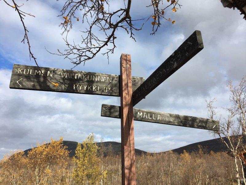 Three nations border point trail, Kilpisjärvi