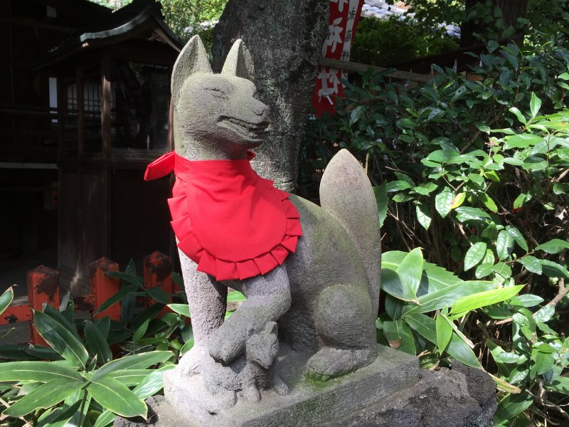 Gojoten shrine Inari fox, Ueno Park