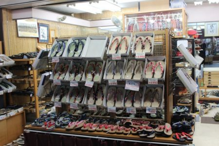 Japanese shoes at Nakamise market