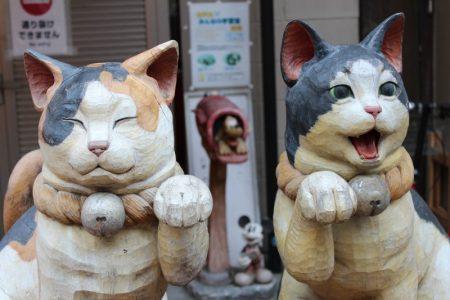 Yanaka Ginza cat statues, Tokyo