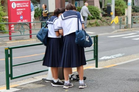 Yanaka school girls
