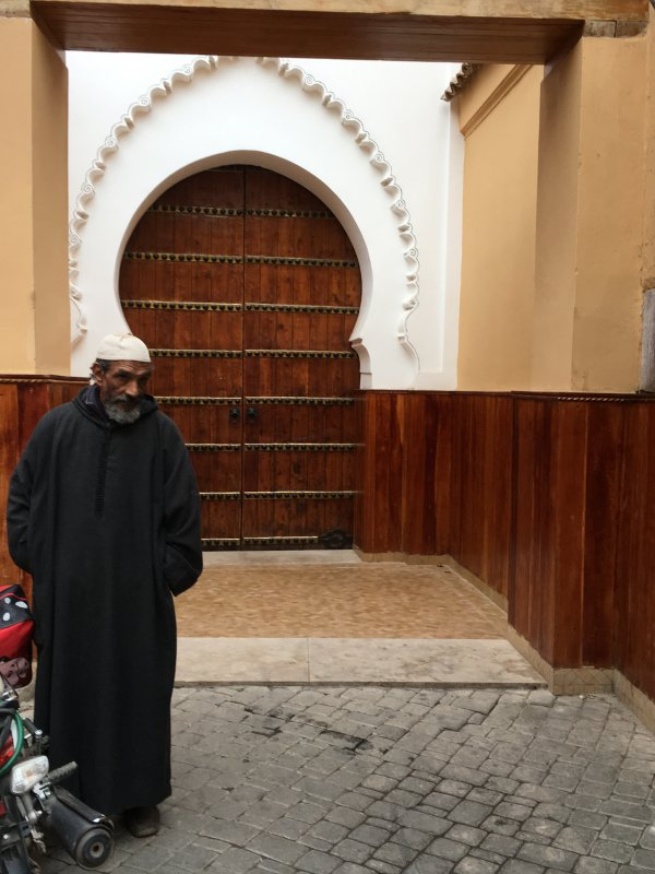 A man in the old town of Marrakech