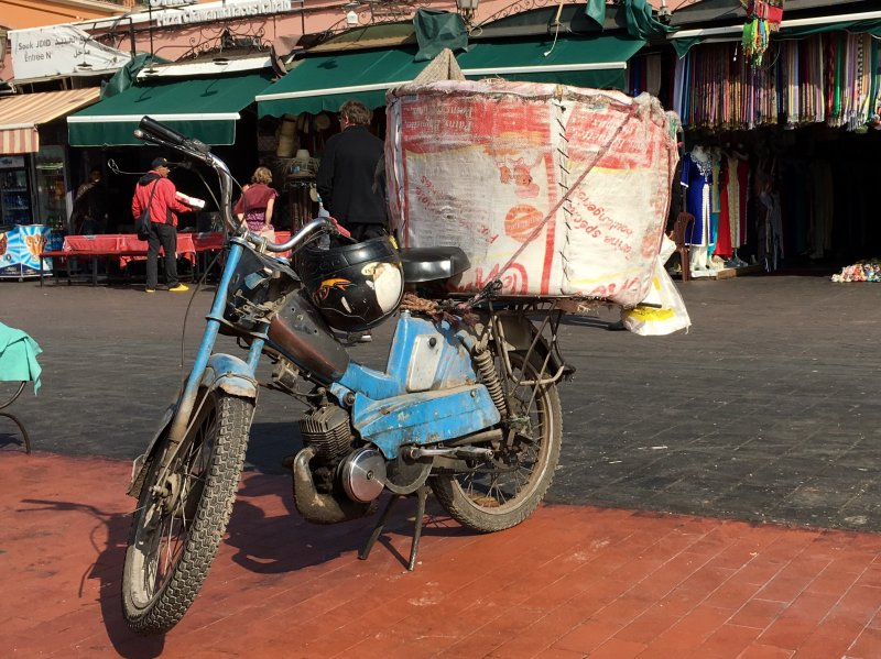Bike on the Jemaa el-Fna square