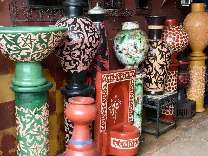 Ceramics for sale in the souks, Marrakech