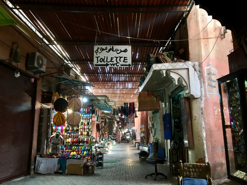 Alley in the souks of Marrakech