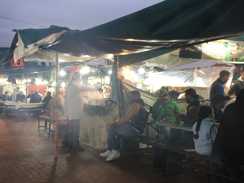 Evening food stalls, Jemaa el-Fna