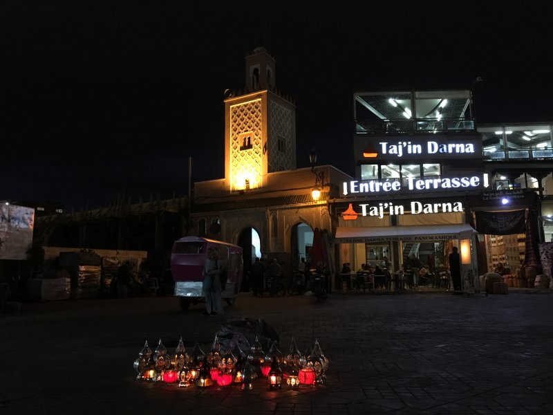 Lanterns on UNESCO listed Jemaa el-Fna