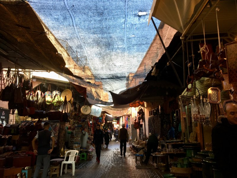 Lazy afternoon in the souks of Marrakech
