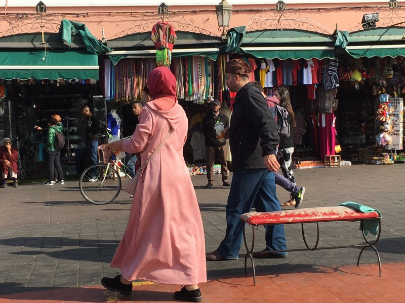 Locals on the Jemaa el-Fna square