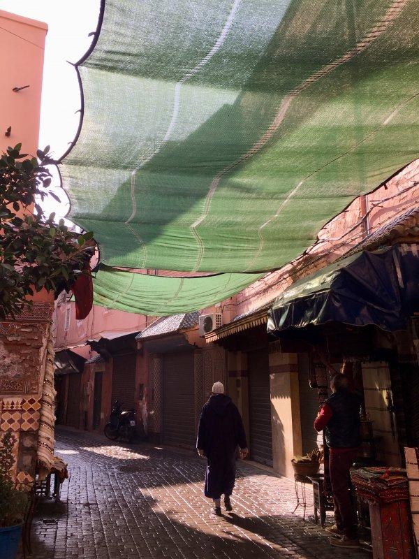 Man walking in the souks of Marrakech