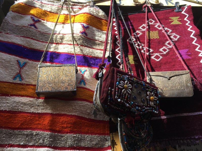 Moroccan handicraft for sale in the souks of Marrakech