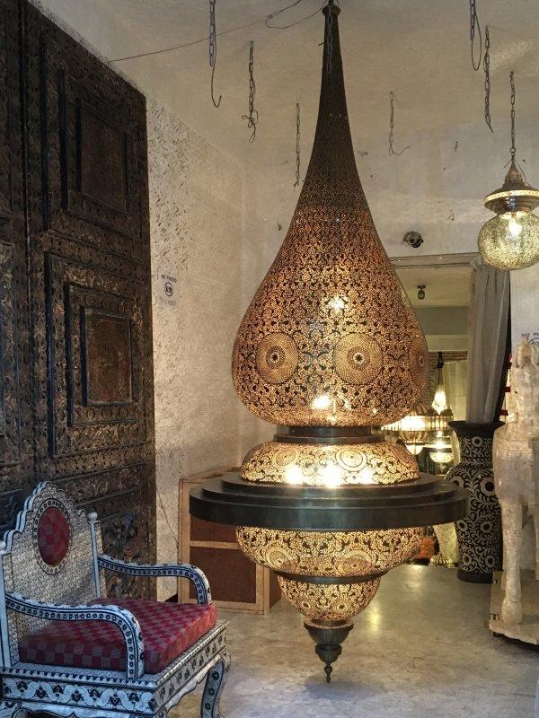 Moroccan lamp in the souks of Marrakech