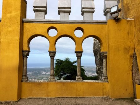 Palace of Pena on Sintra hills