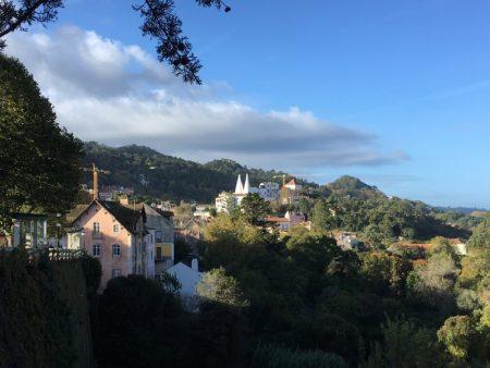 Palacio Nacional de Sintra and hills