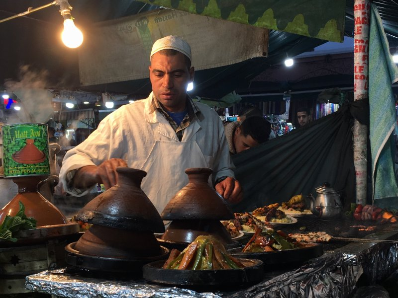 Preparing couscous, Jemaa el-Fna