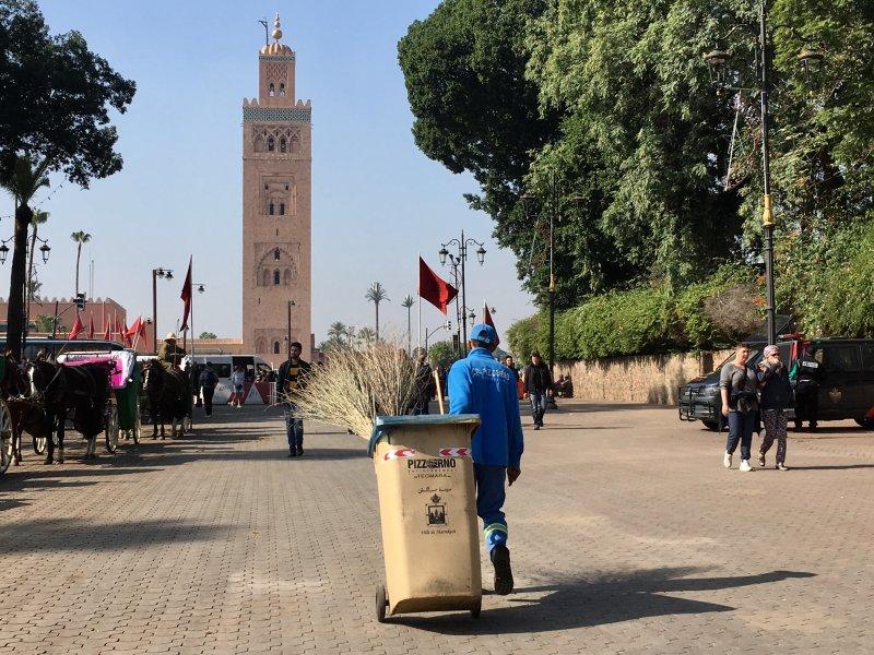 Street cleaner, Jemaa el-Fna