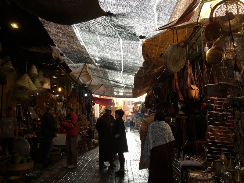 Typical lane in the souks, Marrakech