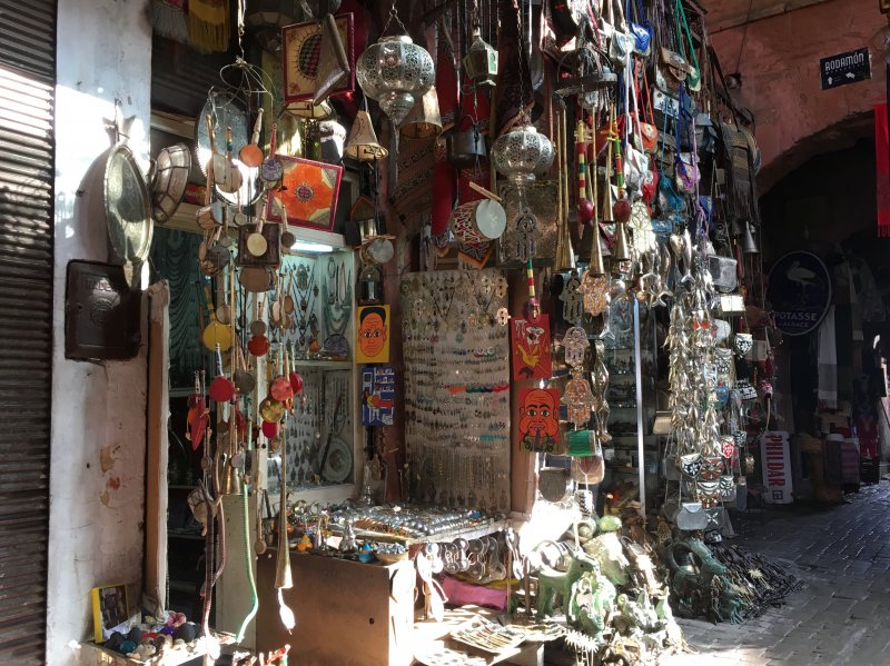 Al stall in the souks of Marrakech