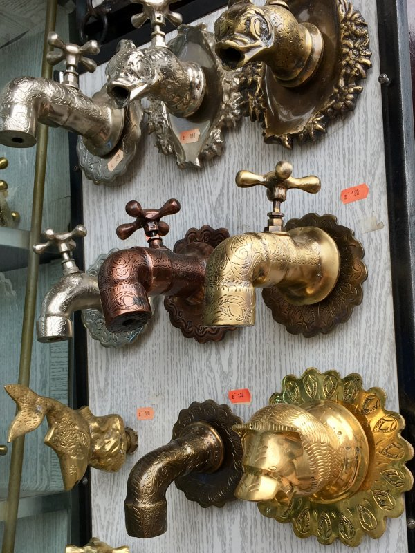 Water taps produced in the souks, the medina of Marrakech