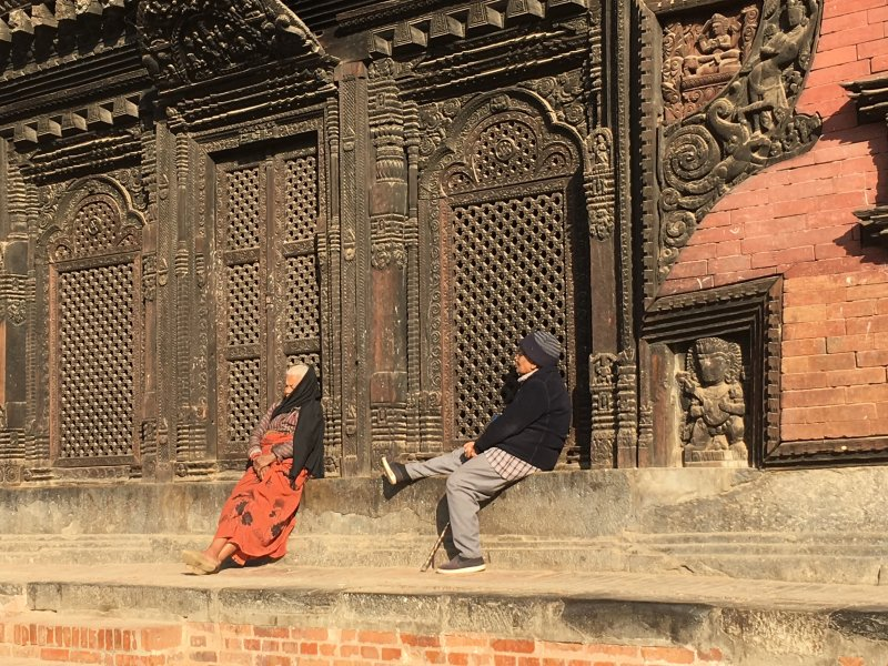 An old Bhaktapur couple