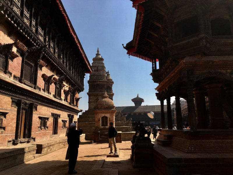 Bhaktapur Durbar Square and pagoda