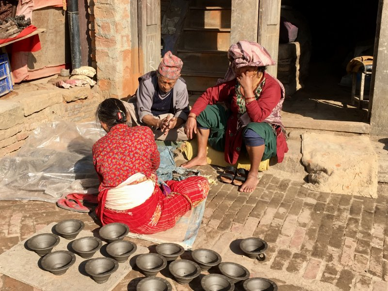 Bhaktapur locals at work