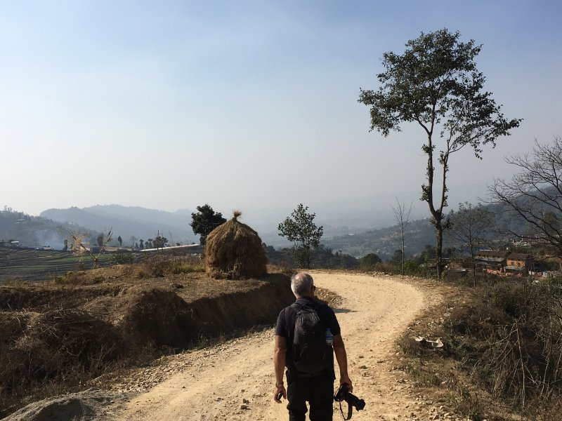 Hiking in Nagarkot, Nepal