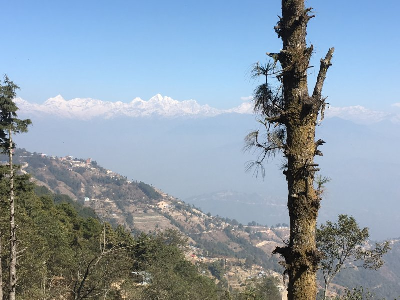 Nagarkot Village and the world's highest mountains