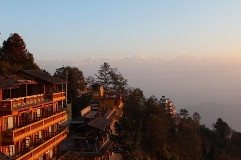 Nagarkot morning at Hotel Coutnry Villa