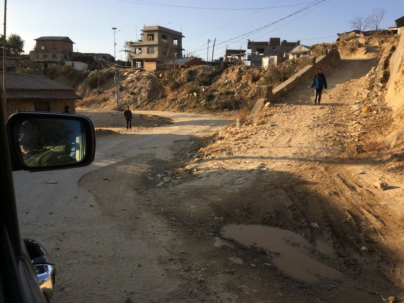 Nagarkot to Bhaktapur road conditions