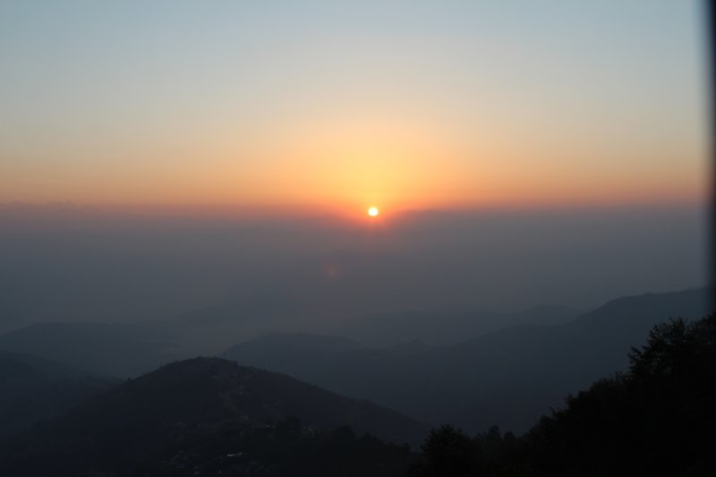 Sunrise from Hotel Country Villa Nagarkot