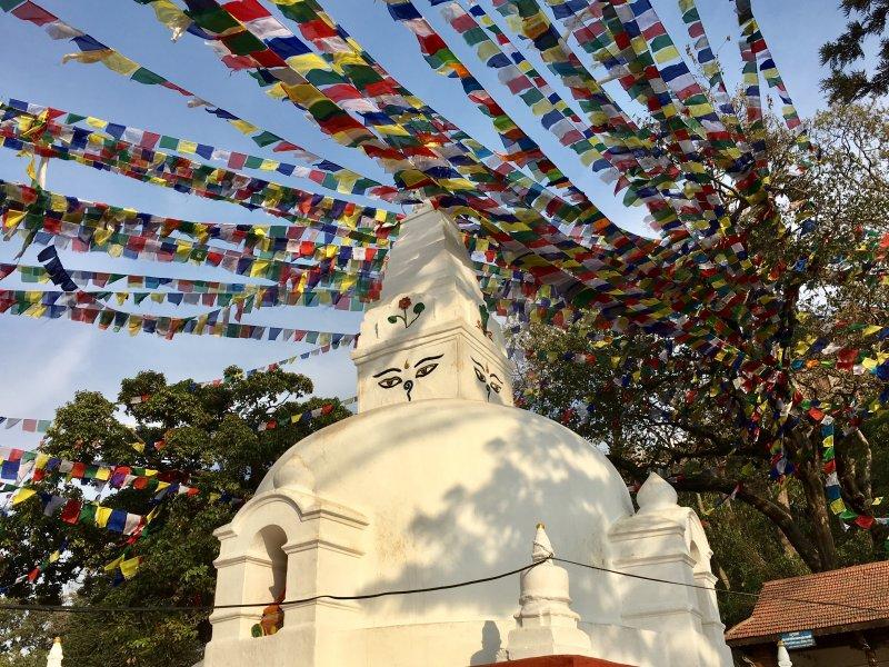 A side temple of Swayambbunath, Kathmandu