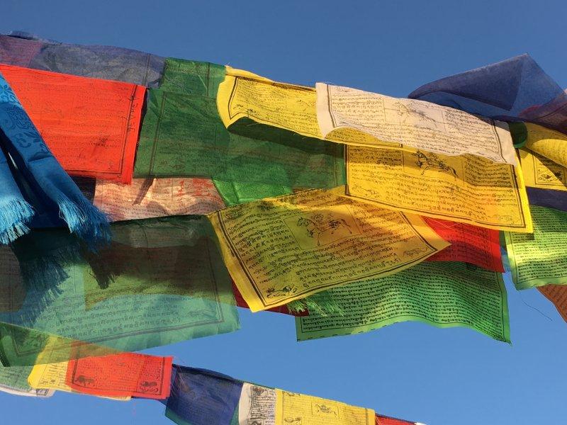 Boudanath Stupa prayer flags