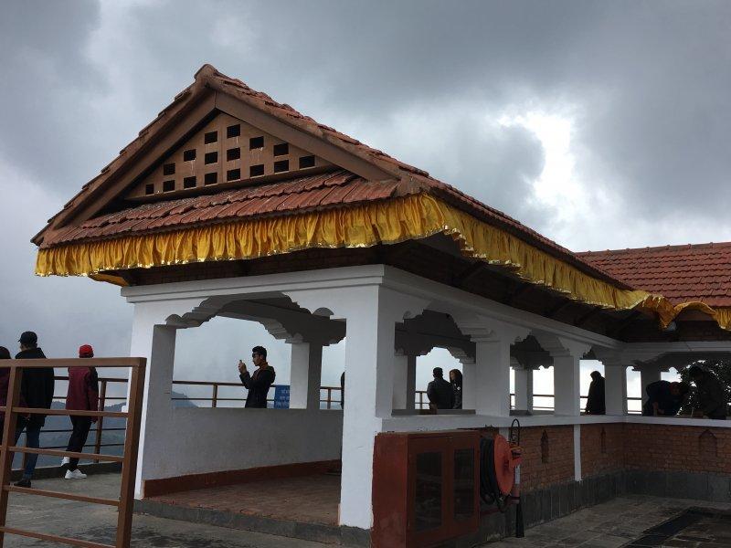 View of Chandragiri Hill temple area