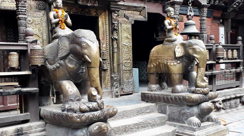 Golden Temple gate, Patan
