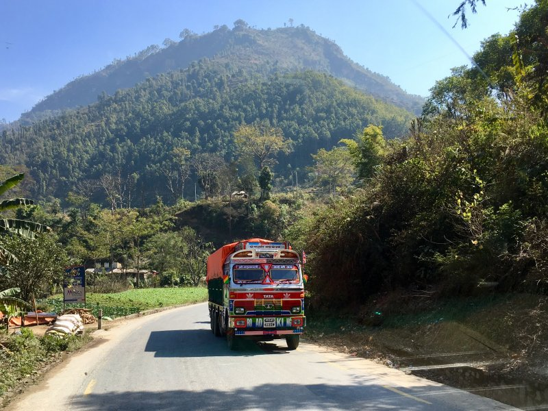 Highway from Pokhara to Kathmandu